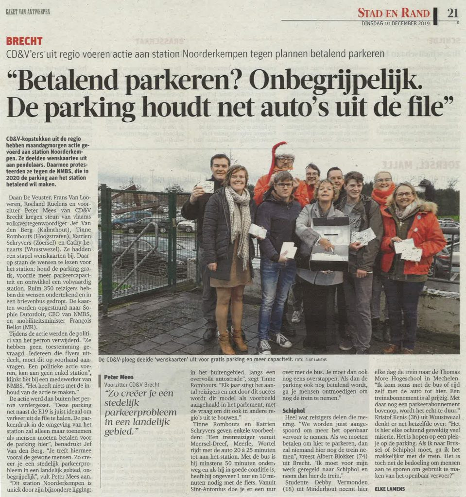 Parking station noorderkempen krant